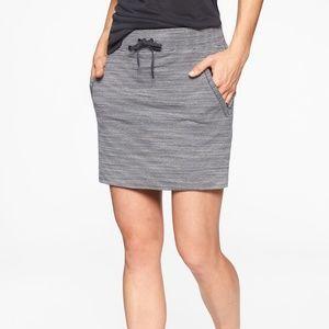Athleta Sporty Striped Gray-Blue & White Skirt S